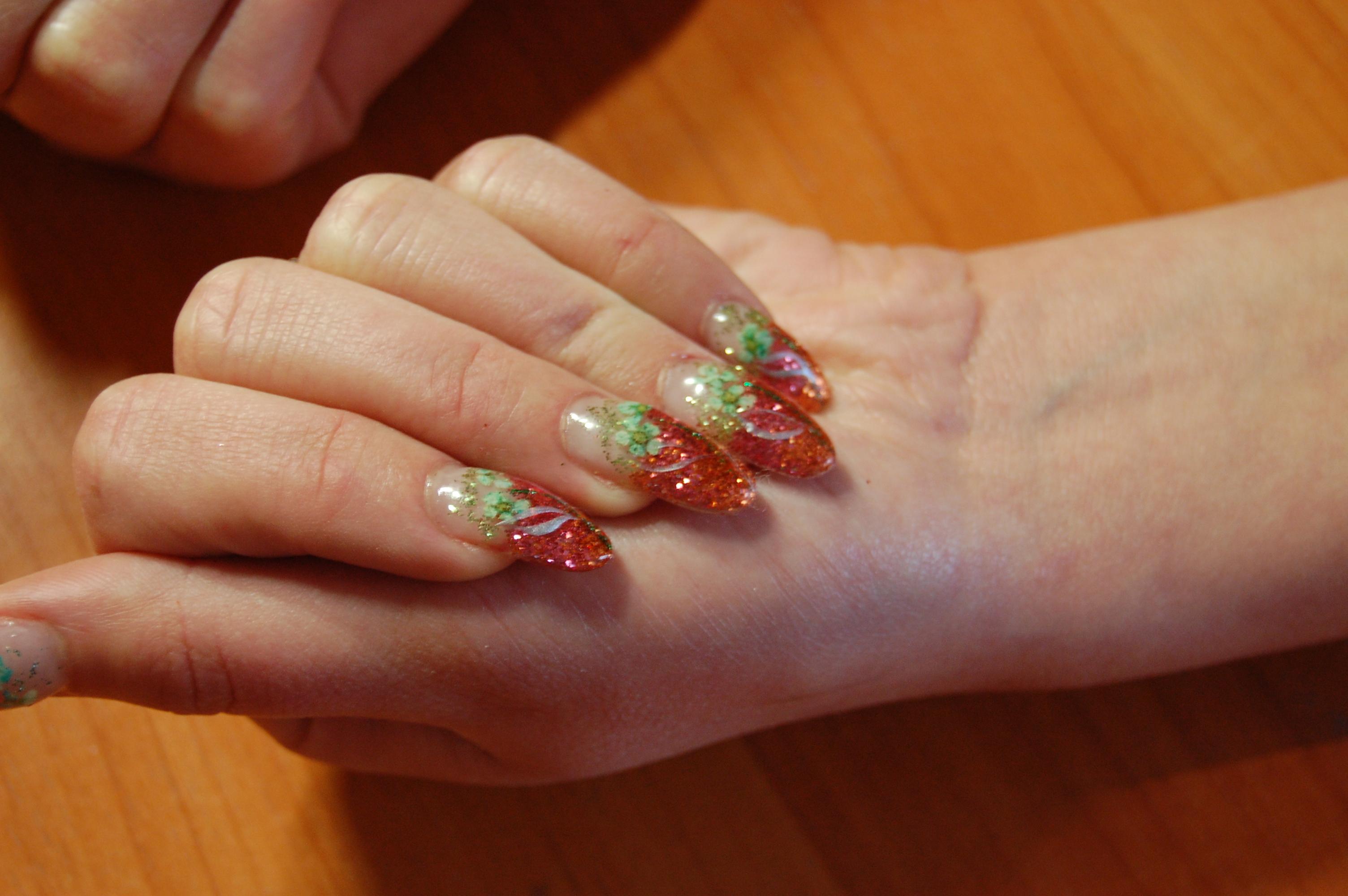 Дизайн ногтей Сухоцветы галерея фото, аквариумный дизайн с 11